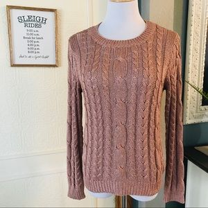 Atmosphere Blush Cable Knit Sweater UK Brand
